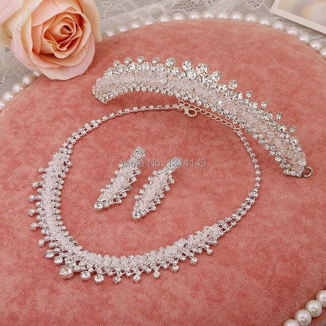New jewelry necklace bride wedding jewelry three-piece wedding accessories wholesale pearl jewelry