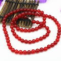 Hot sale charms 10mm natural jasper red jade chalcedony round beads long chain necklace high grade women jewelry 34inch B3210