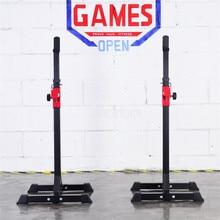 SS501 разделенная штанга для тяжелой атлетики, профессиональная стойка для штанги для тренировки приседания, держатель штанги, регулируемая высота, ширина, оборудование для фитнеса