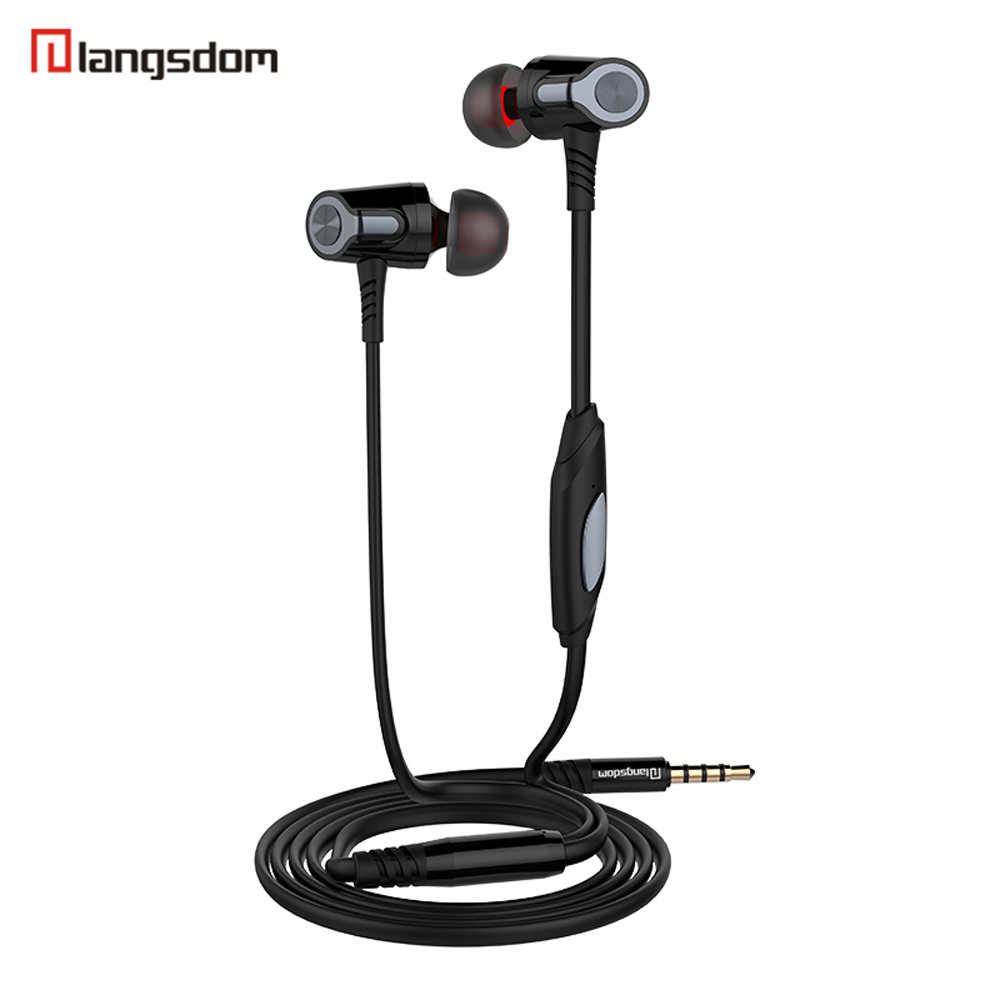 Langsdom EH360 In-Ear Music Earphones Metal Noodle line Stereo Headsets with Microphone HiFi 3.5mm Earbuds for xiaomi Cellphone 3 5mm heavy bass stereo earphone for nokia 6700 classic gold edition earbuds headsets with microphone metal in ear earphones