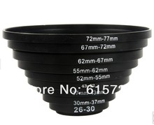 49 52mm 52 55mm 55 58mm 58 62mm 62 67mm 67 72mm 72 77mm 77 82mm Metal Step Up Rings Lens Adapter Filter Set