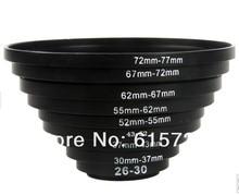 Juego de filtros para adaptadores de lentes, anillos metálicos de regulador, 49 52mm, 52 55mm, 55 58mm, 58 62mm, 62 67mm, 67 72mm, 72 77mm, 77 82mm