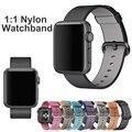 2016 para a apple watch bandas 42mm 1:1 originais tecido tecido de nylon cinta iwatch iwatch ligação pulseira pulseiras de relógio de substituição 38mm