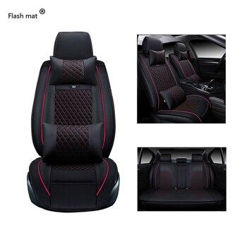 Flash mat Universal Leather Car Seat Covers for KIA All Models K2/3/4/5 Kia Cerato Sportage Optima Maxima carnival rio ceed auto