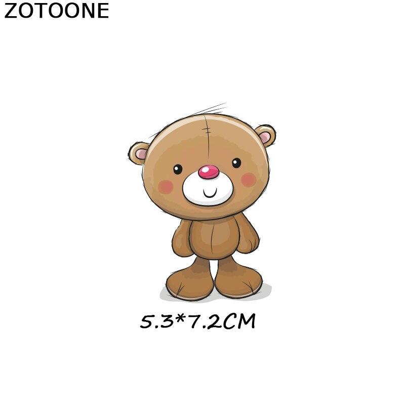 """ZOTOONE железные нашивки на одежду Diy полоски 3D аппликация """"Девочка"""" теплопередача для украшения из ткани наклейки для детей G - Цвет: 1080"""