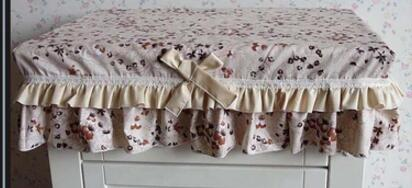 Brown bedside tablecloths cotton cloth dustproof hood cover tablecloth table cover