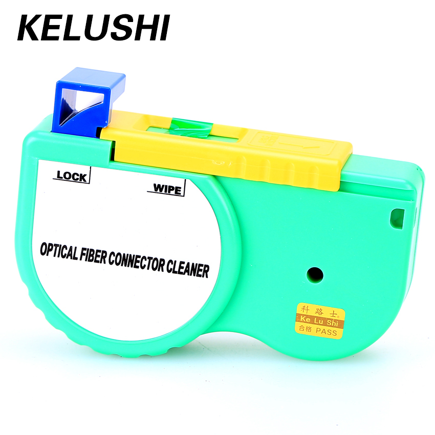 KELUSHI Fiber Optic Connector Cleaner One Click Optical Cleaning for SC ST FC Cable And Connector