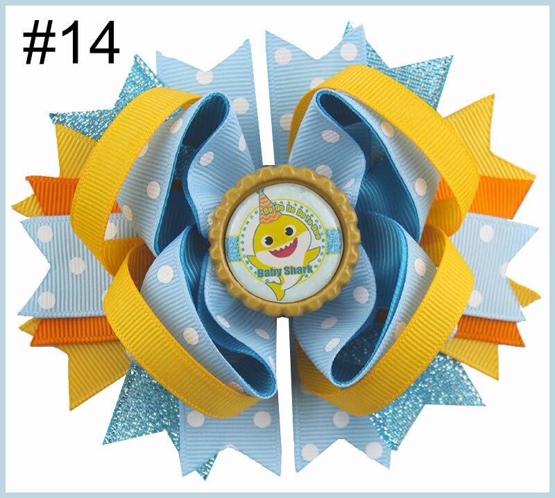 24 шт. мультфильм банты для волос с Детские Луки куклы зажимы девушка волосы луки для детей девушка волосы - Цвет: 20181229014