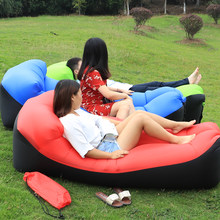 Fast Inflatable Beach Chair Outdoor Camping Sofa banana Sleeping lazy Bag laybag Air Bed Sofa chair Couch Lounger(China)