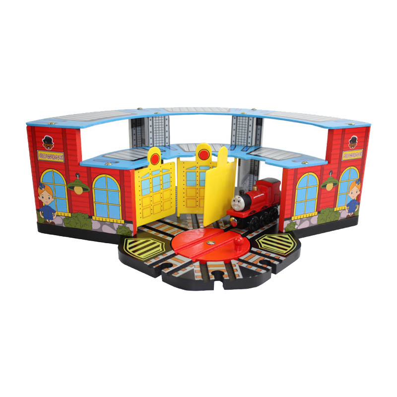 DIY Wooden Tomas and Friends Railway Trian Track toys Colorful Parking lot house for baby