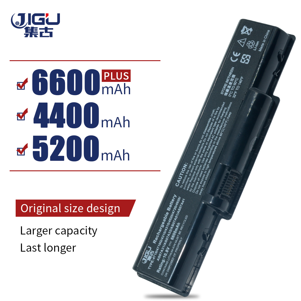 JIGU Replacement For Acer 4710 Battery AS07A31 ,AS07A41 4720 BT.00607.012 MS2219 AS07A75 BT.00604.022 BTP-AS4520G Battery image