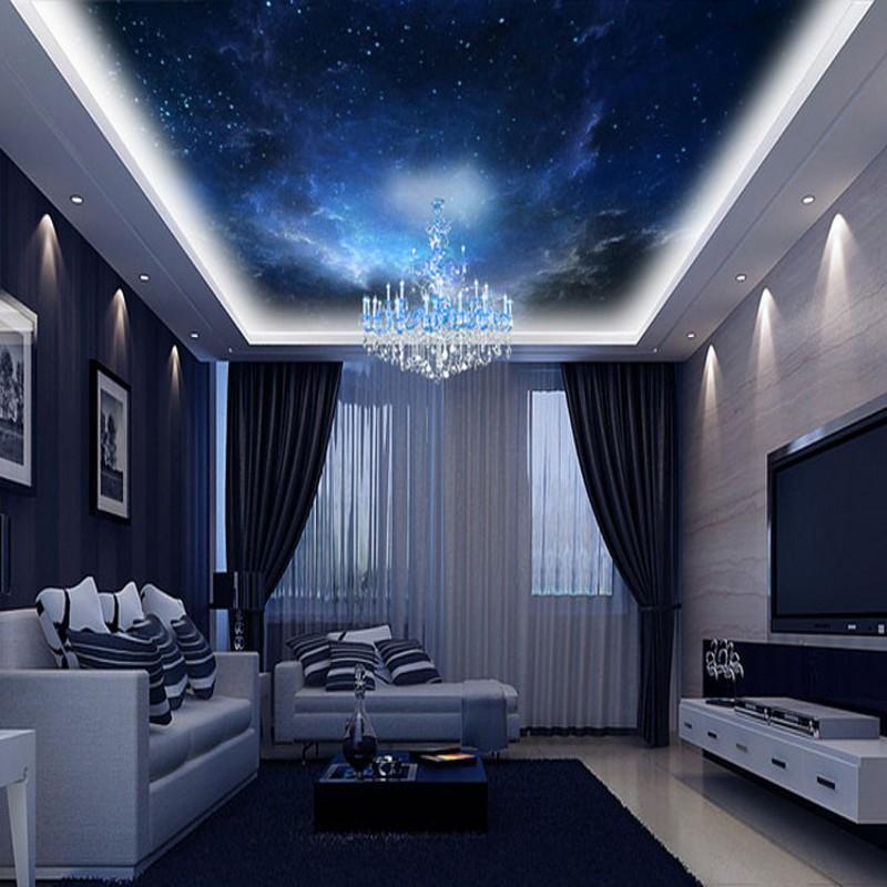 Beibehang custom night space 3d room landscape wallpaper for Space wallpaper for rooms