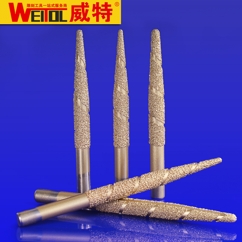Weitol free shipping Brazing stone engraving bits marble carving tools CNC router bits CNC router machine milling cutter free shipping haft straight router bits cnc cutter carbide cutting tools engraving bit work on pvc wood machine