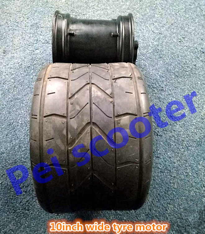 10 Inch Wheel Wide Tyre Brushless Gearless Dc Hub Wheel
