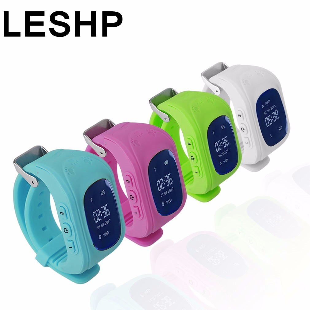 LESHP GPS smart watch Q50 Kid Safe Wristwatch GSM Finder Locator Tracker SIM SOS Anti-Lost Children Watch for iOS Android PK Q60