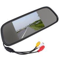5inch TFT Color Mirror Car Rearview Monitor LCD Display 2AV Input For DVD Reversing Camera For