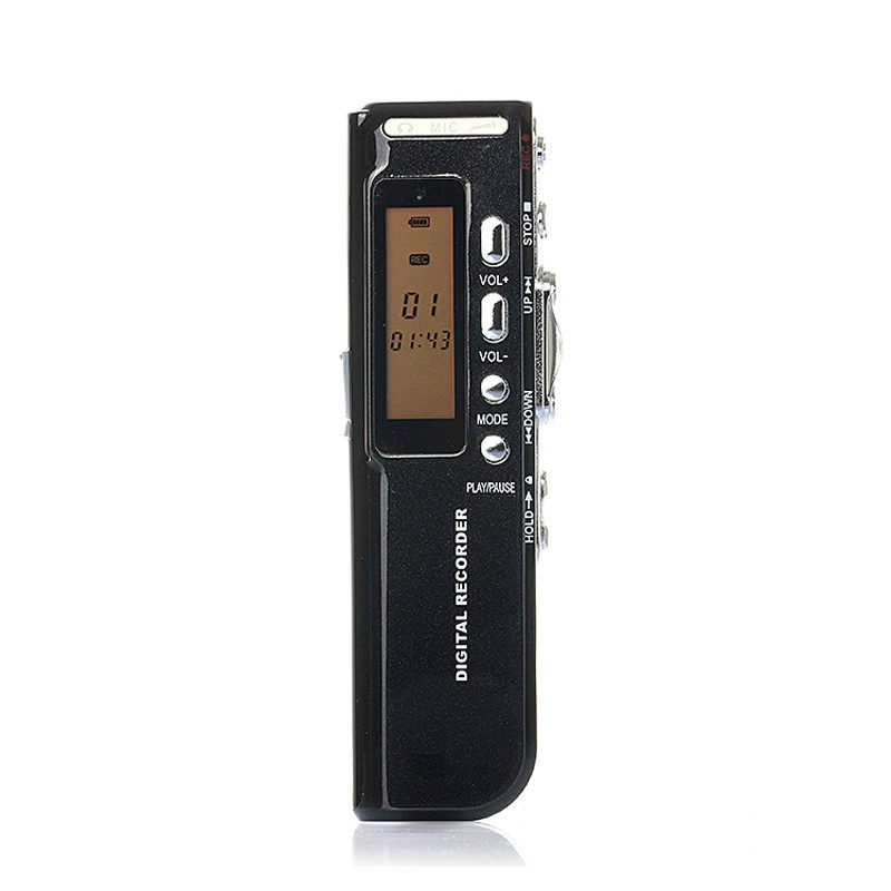 Newest Best Price!!! 8GB USB LCD Screen Digital Audio Voice Recorder Dictaphone MP3 Player Black Free Shipping NOM03