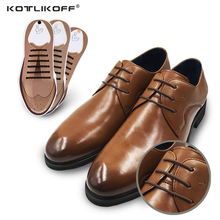 KOTLIKOFF No Tie Shoelaces New Novelty Elastic Silicone Shoelaces For All Leather Business Shoes Fit Strap Shoe Lace