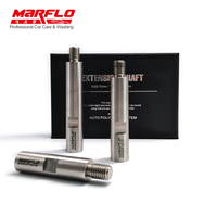 MARFLO Stainless Steel M14 Rotary Polisher Extension Shaft For Car Care Polishing Accessories Tools Auto Detailing