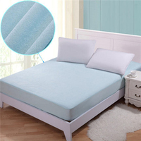 1PCS Solid Color Bed Sheets With Elastic Band Double Queen Size 180*200+30cm Mattress Cover 100% Polyester