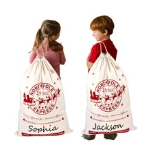 OurWarm 50*70cm Santa Christmas Gift Bags Candy Bag Canvas Cotton for Gifts Xmas Drawstring Wholesale Dropshoping