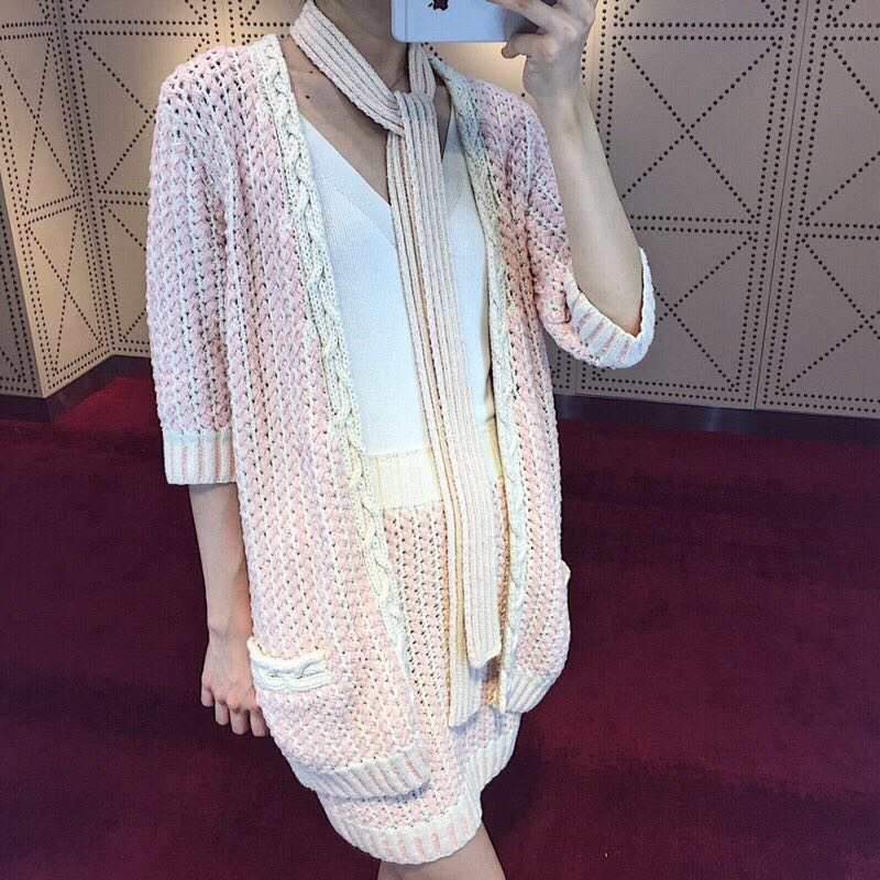 WA06159BG Fashion womens Sweaters 2018 Runway Luxury Brand European Design party style womens Clothing