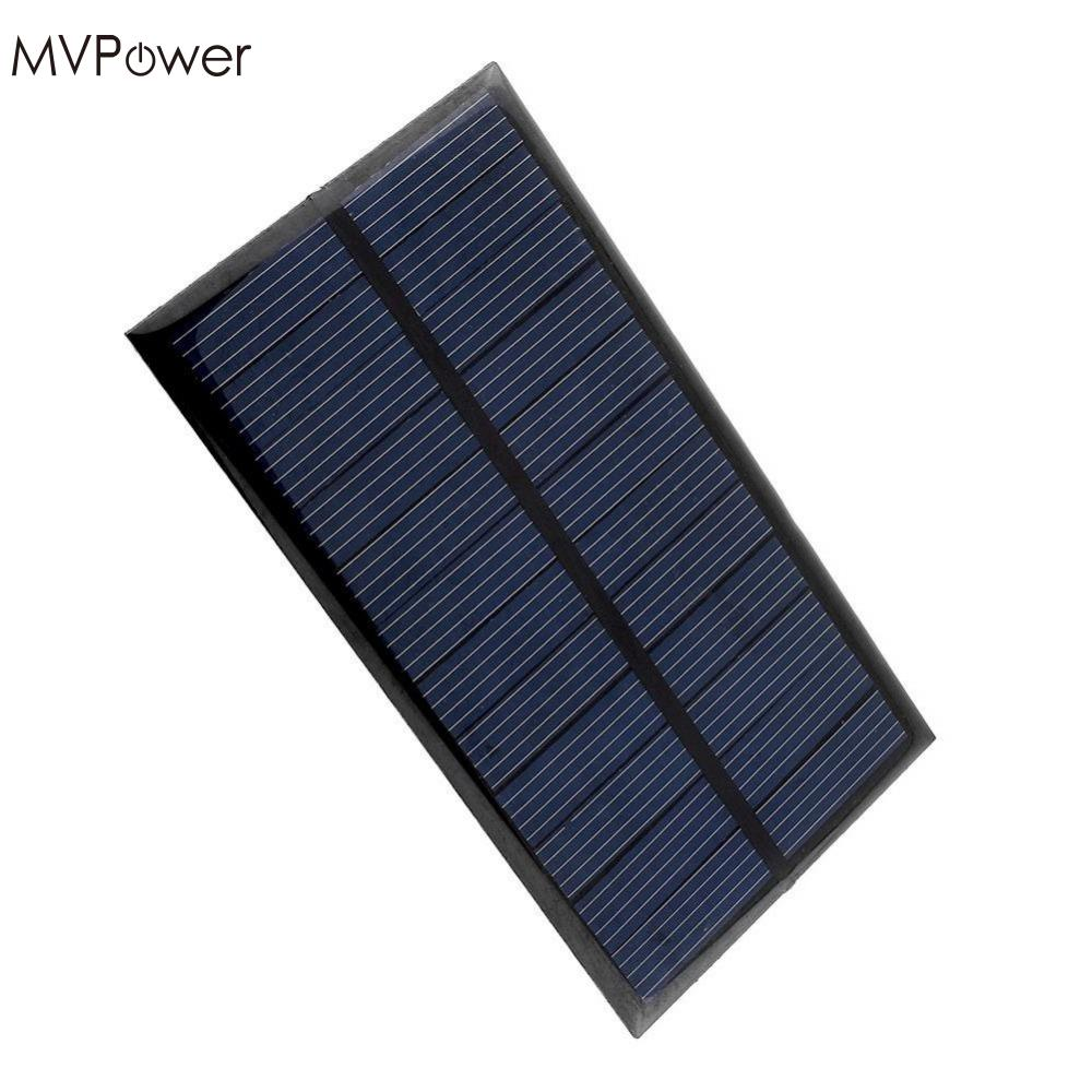 MVPower 50 pieces Mini 6V 1W Solar Panel Bank Solar Power Panel Home DIY Solar System For Light Battery Phone Toy Chargers