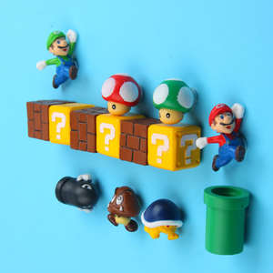 Fridge Magnets Magnet-Message-Sticker Refrigerator Birthday-Gift Adult Kids Super-Mario-Bros