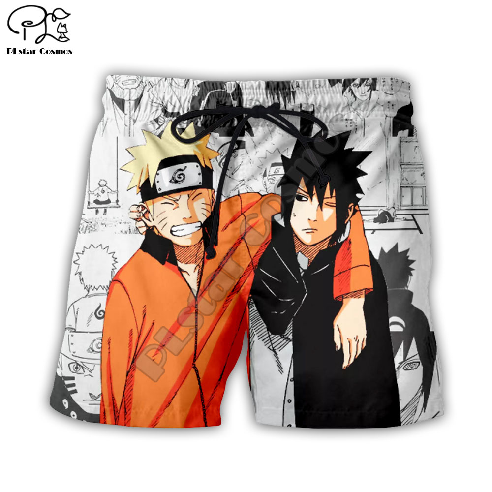PLstar Cosmos Uzumaki Naruto 3d Printed Shorts For Men Women Summer Beach Shorts Hip Hop Short Trousers Streetwear Boys