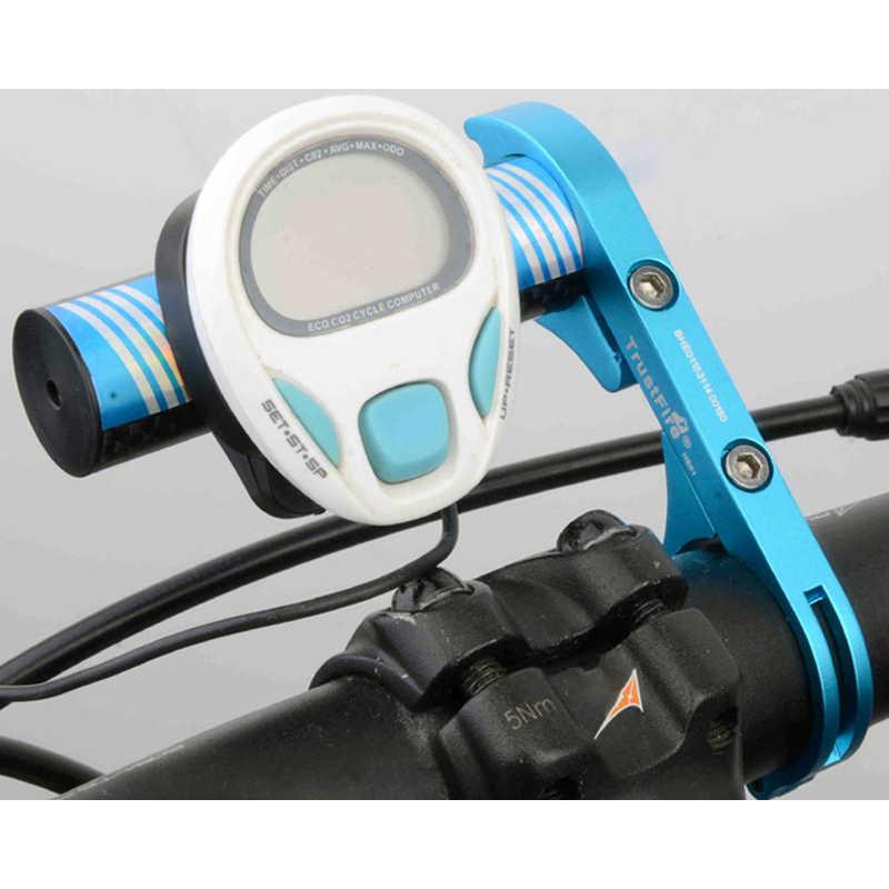 Bisiklet Aksesuarları TrustFire Karbon Fiber MTB Bisiklet bisiklet ışığı Gidon Genişletici Uzatma Montaj Braketi Tutucu