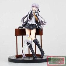 18 cm Anime japonais Danganronpa Kirigiri Kyouko boîtier Stand PVC Action Figure Collection modèle jouets poupée