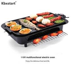 Wiele sprzęt do grillowania Maszyna do kebabu bezdymne Grill elektryczny patelni sprzęt do grillowania z 5 cm grubości nakładka stykowa Parrilla Electrica