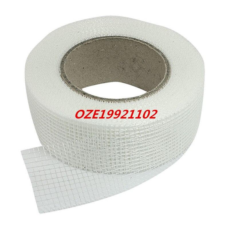1PCS White Self Adhesive Fiberglass Mesh Joint Tape for Cracks Holes sheetrock drywall self adhesive mesh wall repair fabric joint tape roll