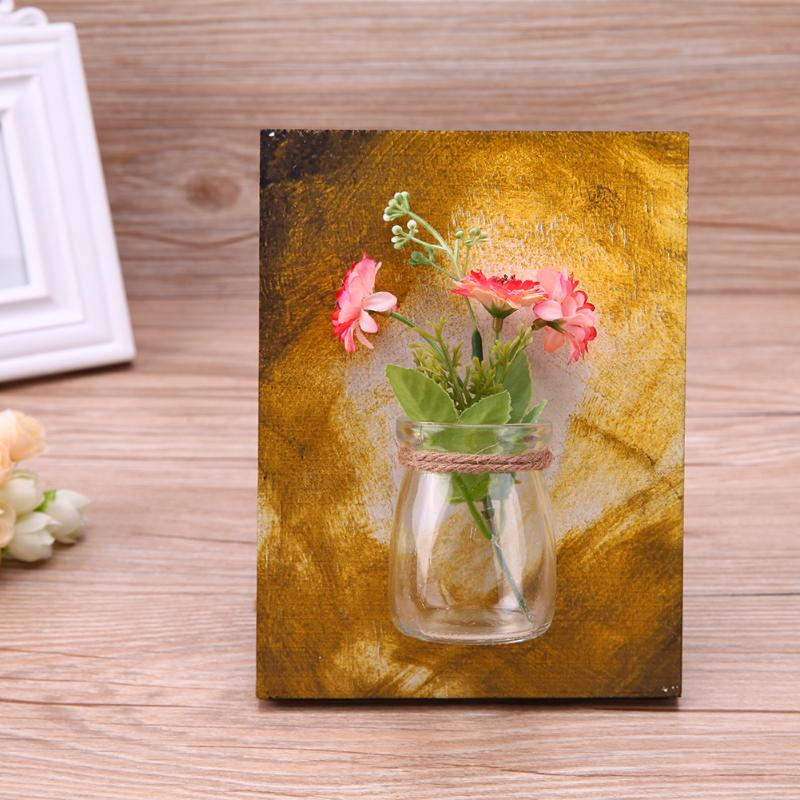 Wall Mounted Glass Flower Pot Vase Planting Hydroponic Plant Container Pot DIY Table Wedding Garden Home Decoration