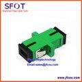Atacado-Fibra Óptica Adaptador Adaptor SC Simplex Monomodo SC-SC APC green Plastic Housing 50 pçs/lote Frete Grátis
