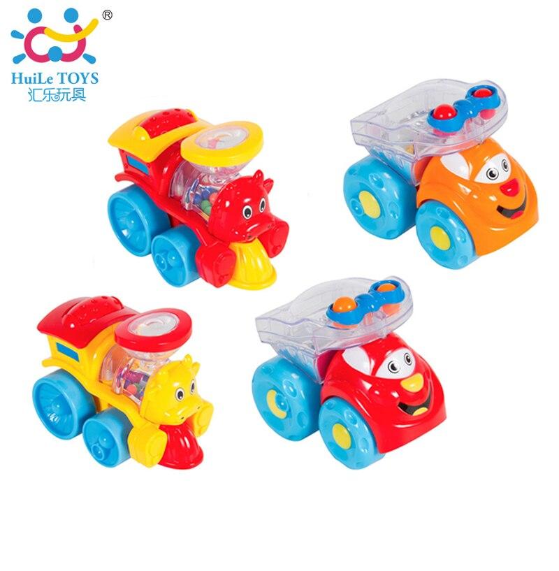 4pcs Lot Baby Cartoon Model Cars and Trains Inertia Car font b Toy b font Kids