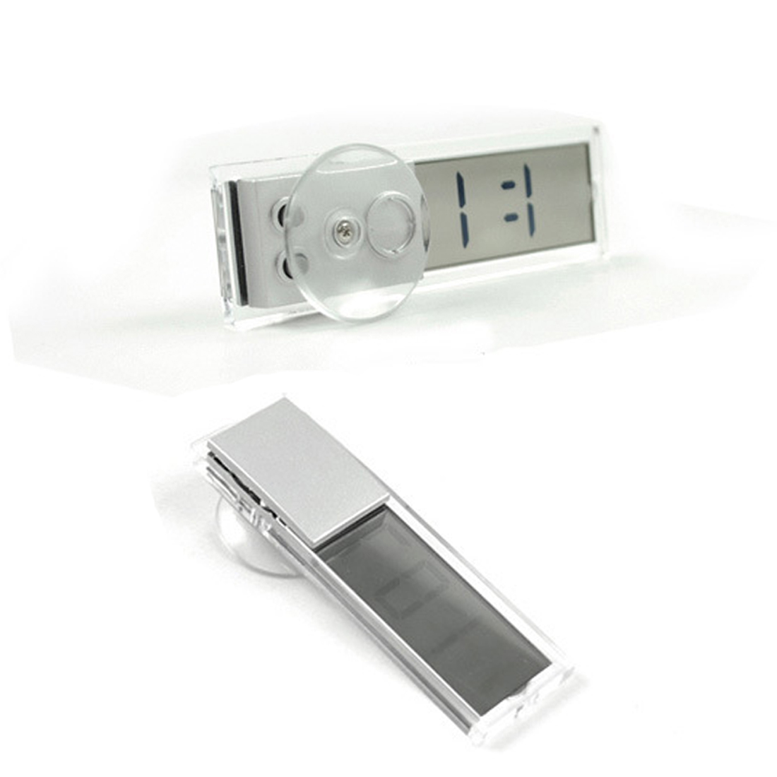 Dewtreetali  Car Electronic Transparent Clock Schedule with Sucker Mini Digital LCD Display Automotive Interior Accessories