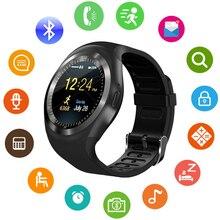 Novo Relógio Inteligente Y01 mais Rodada tela de toque Do Bluetooth 4.0 Suporte 2G GSM SIM Smartwatch relógio de pulso Para IOS Samsung Android telefone