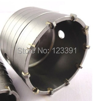 Free shipping of professional 115*72*M22 carbide tipped wall hole saw for air condtiional holes opening on brick concrete wall free shipping 1pc carbide tipped wall hole saw 95 72 m22 strengthened electric hammer hole saw for wall