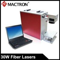 Mactron 30 Вт мини волоконно лазерная маркировочная машина красный лазерный гравировальный станок для металлическая Именная Карта