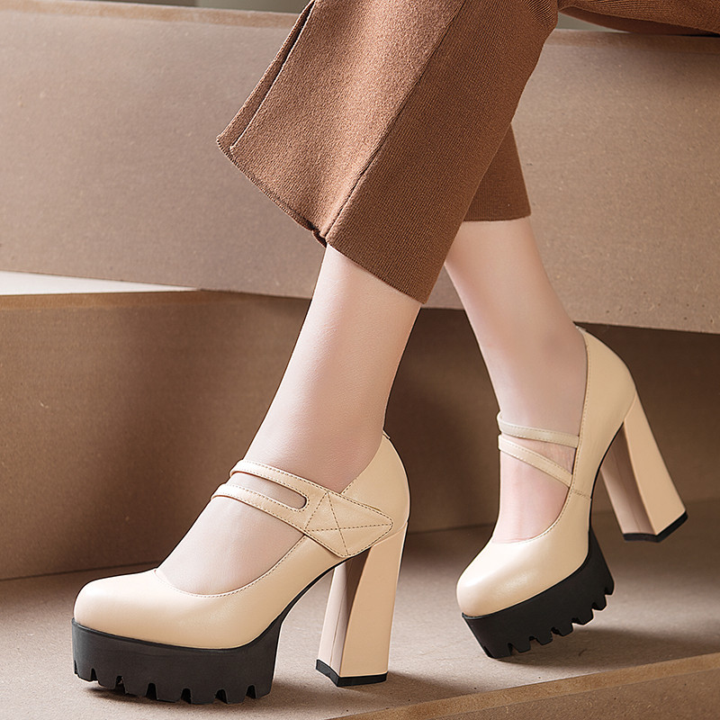 Online Get Cheap Chunky Heels Nude Shoes -Aliexpress.com | Alibaba ...