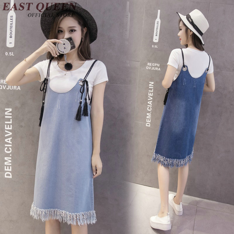 Women's Clothing Generous Denim Sundress Women Jeans Dresses 2018 New Arrrival Casual Jeans Sundress Tassel Fringe Woman Summer Dress Jeans Nn0512 Yq