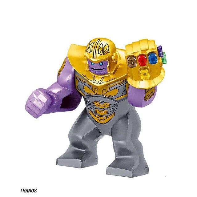 Personagem do Filme da marvel Super heroes DC Thanos Thanos E mini Boneca Figuras de Ação Building Blocks Brinquedos Para Crianças presentes