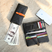 YIFANGZHE New Fashion Men/Women Wallets Long Style Multi-functional Wallet Purse Genuine Leather Female Clutch Card Holder Black недорого