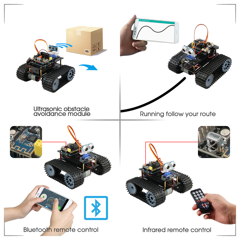 Integrated Circuits Active Components Keywish Tank Robot For Arduino Starter Kit Smart Car With Lesson App Rc Robotics Learning Kit Educational Stem Toys For Children