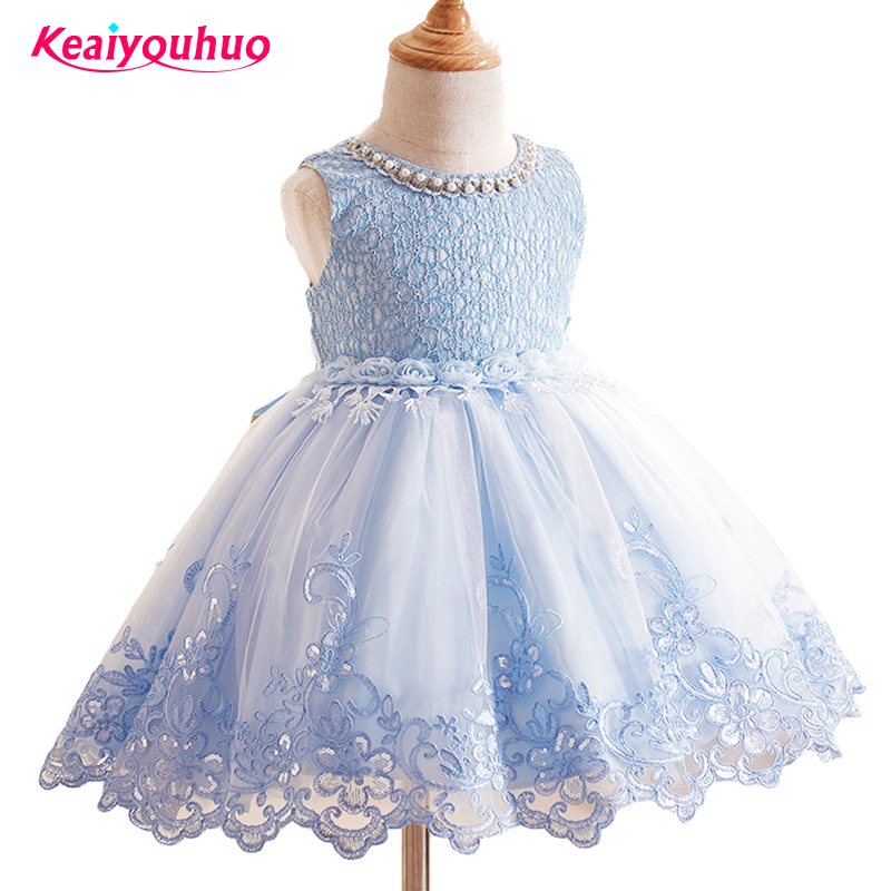 Princess Flower Girl Dress Summer Tutu Wedding Birthday Party Dresses For Girls Children's Costume 3-10 years Prom clothes blue&pink white princess girl tutu dress children girls wedding birthday photo party costume tutu summer clothes for girl 2 14y
