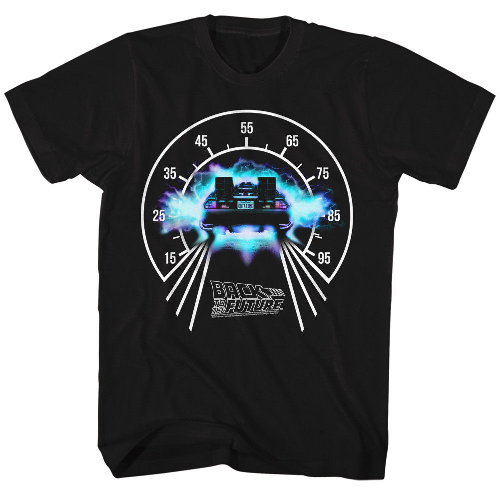 BACK TO THE FUTURE SPEEDOMETER BLACK Mens Adult Short Sleeve T-Shirt Print T Shirt Men Summer Style Men Cool