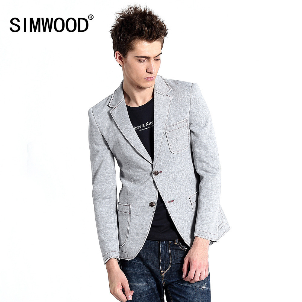 2016 New Designer Blazer Men Fashion Knitted Suit Jacket
