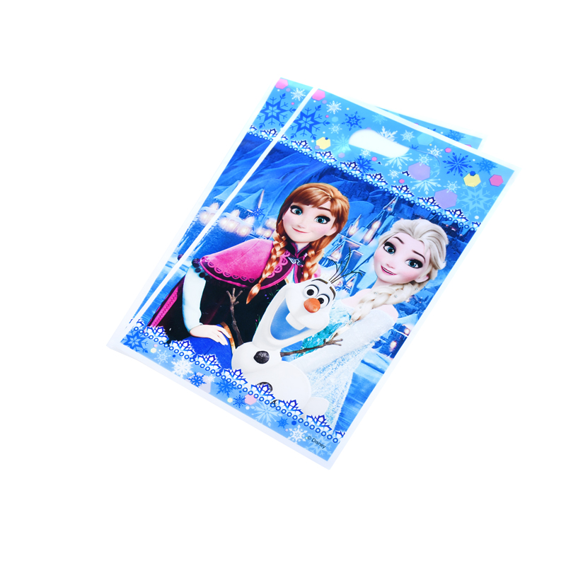 12pcs/lot Gift bag Loot bag Frozen Princess Anna  Kids Birthday party supply event party supplies party Decoration Set candy bag