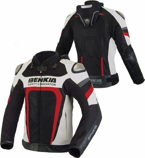 Uomini Mesh Antivento Tessuto Moto Giacca Traspirante Benkia 8qwS5Zx